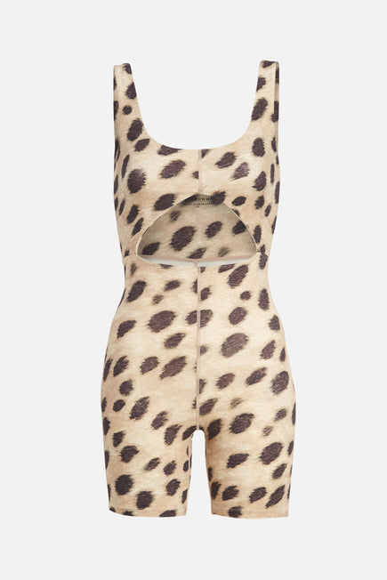 Cutout Bodysuit by WeWoreWhat in Leopard 6