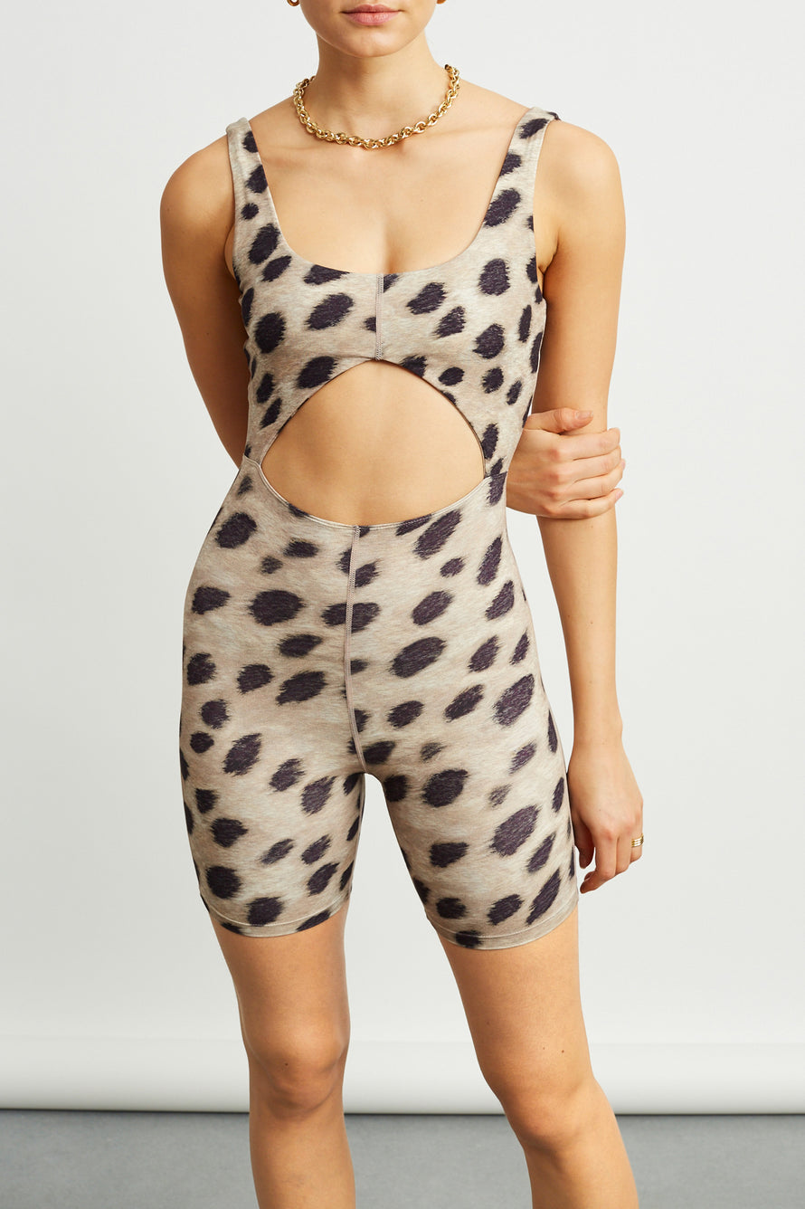Cutout Bodysuit by WeWoreWhat in Leopard 1