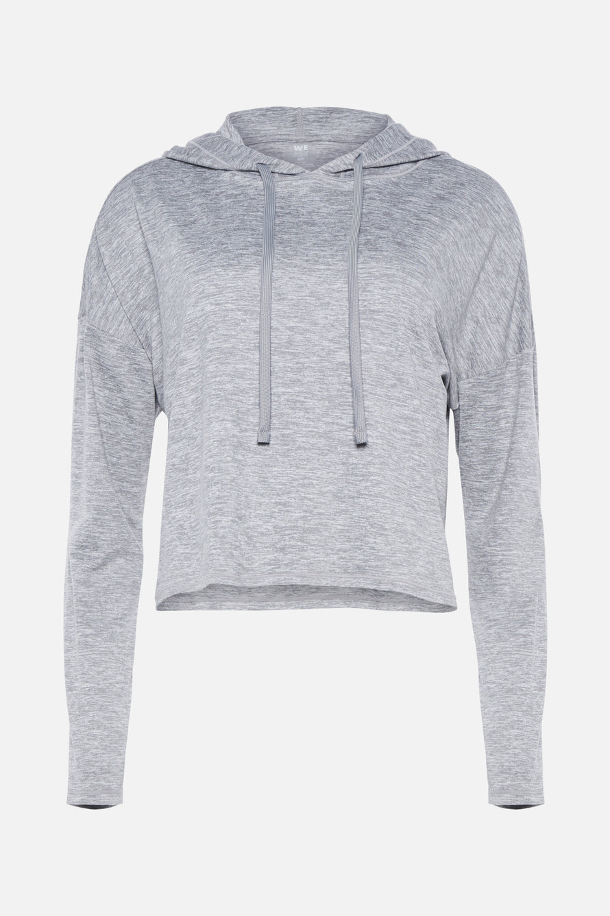 Zen Hoodie by We Over Me in Light Grey Spacedye 9