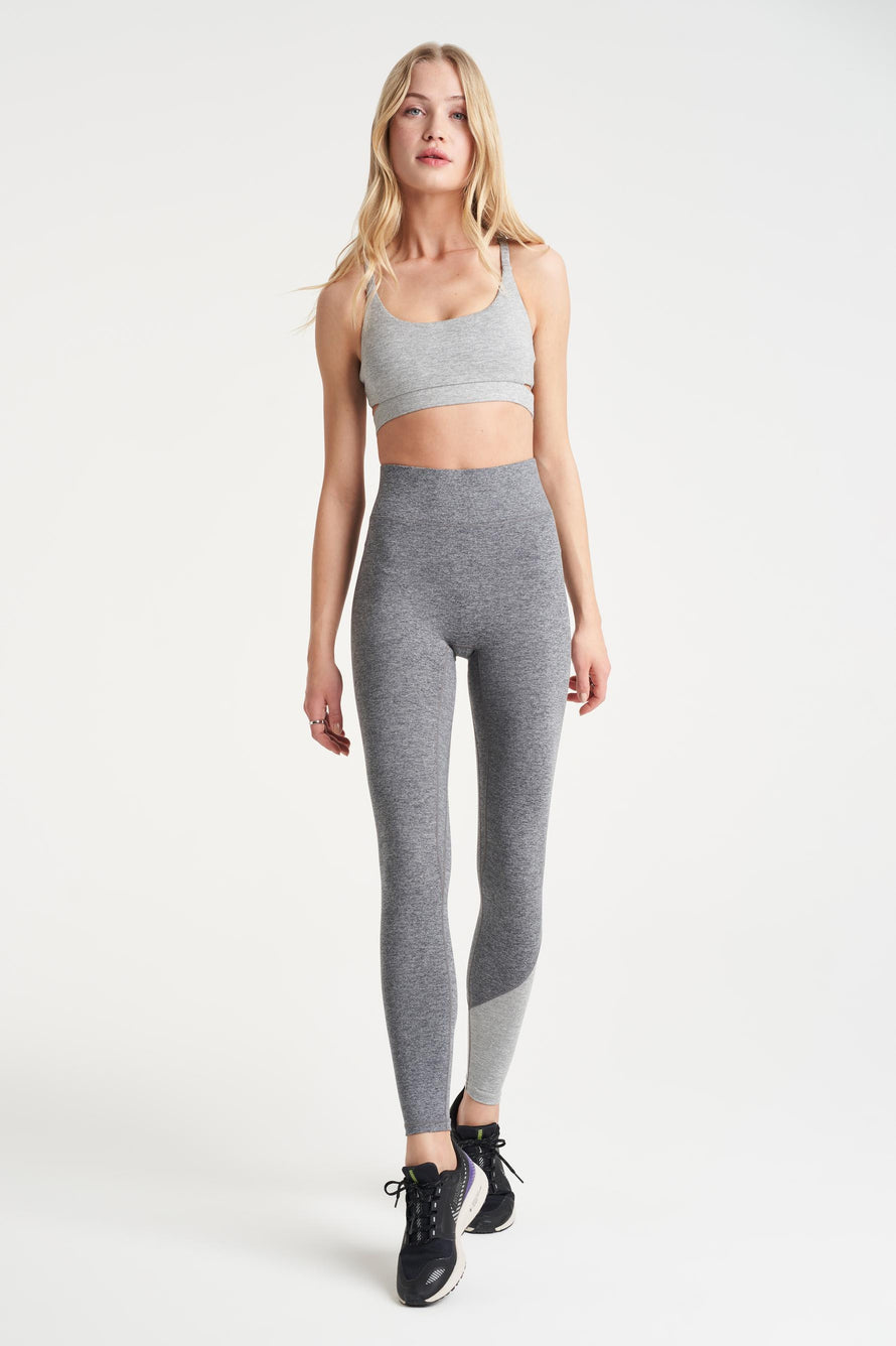 Inversion Legging by We Over Me in Dark Grey With Light Grey 2