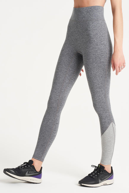 Inversion Legging by We Over Me in Dark Grey With Light Grey 1