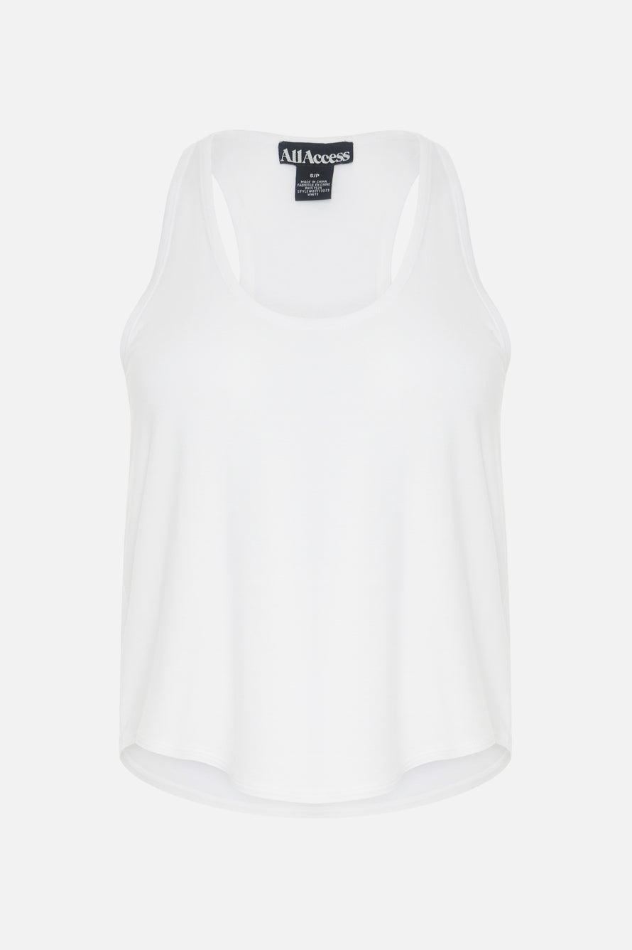 Concert Tank by All Access in White 6