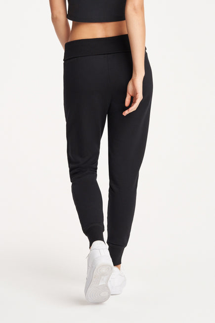 Foldover Long Sweatpant by Beyond Yoga in Black 6