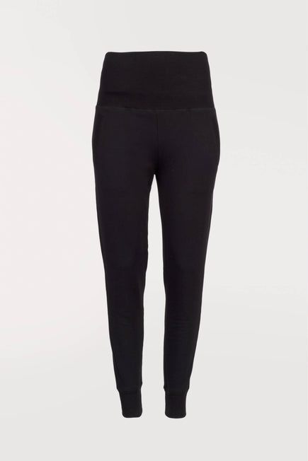 Foldover Long Sweatpant by Beyond Yoga in Black 7