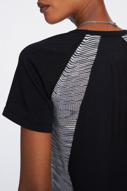 Cru Tee by adidas x Missoni in Black/Dark Grey/White 5
