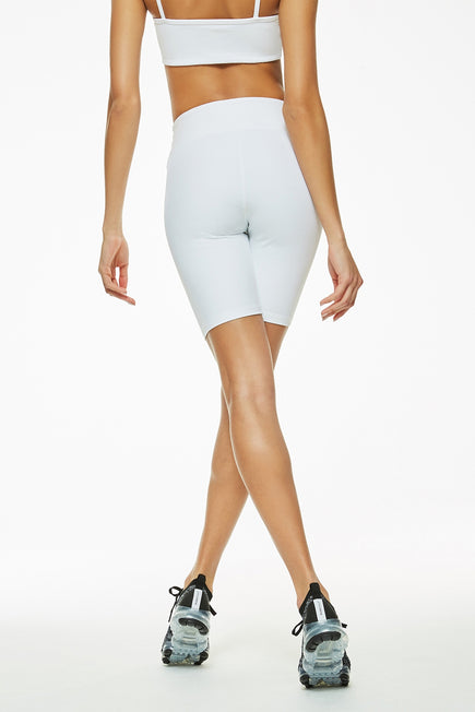 Ribbed Biker Short by Year of Ours in White 2