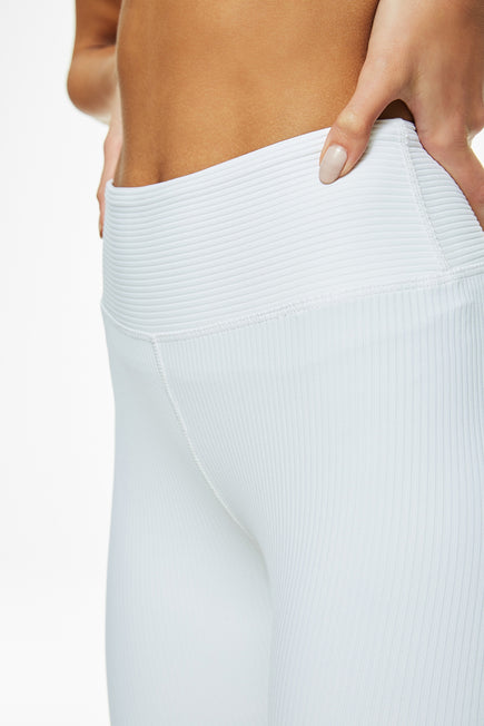 Ribbed Biker Short by Year of Ours in White 6