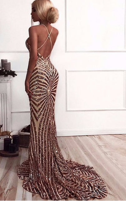Amina Sequin Gown