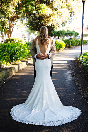 Full Lace Custom Made Bridal Gown
