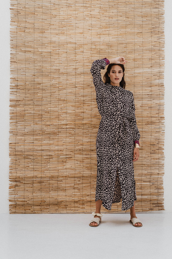 DRESS DEVANSHU AFRICAN LEOPARD