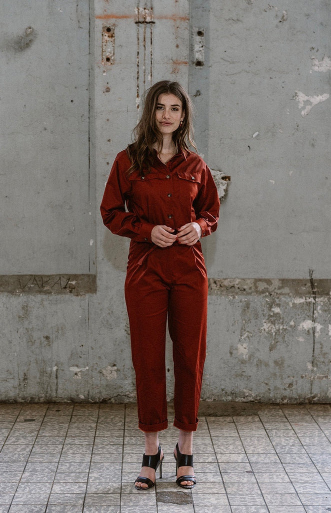 JUMPSUIT ADRA BARN RED