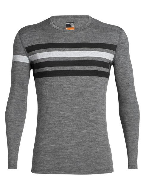 Men's 200 Oasis Long-Sleeve Crewe Heritage Stripe