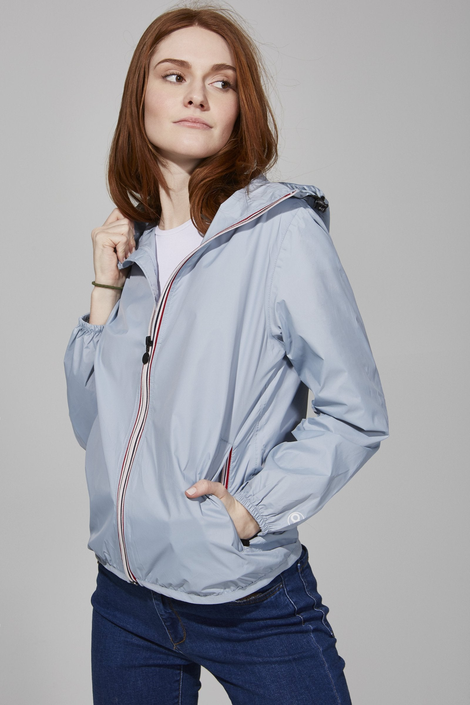 Sloane - Full Zip Packable Rain Jacket