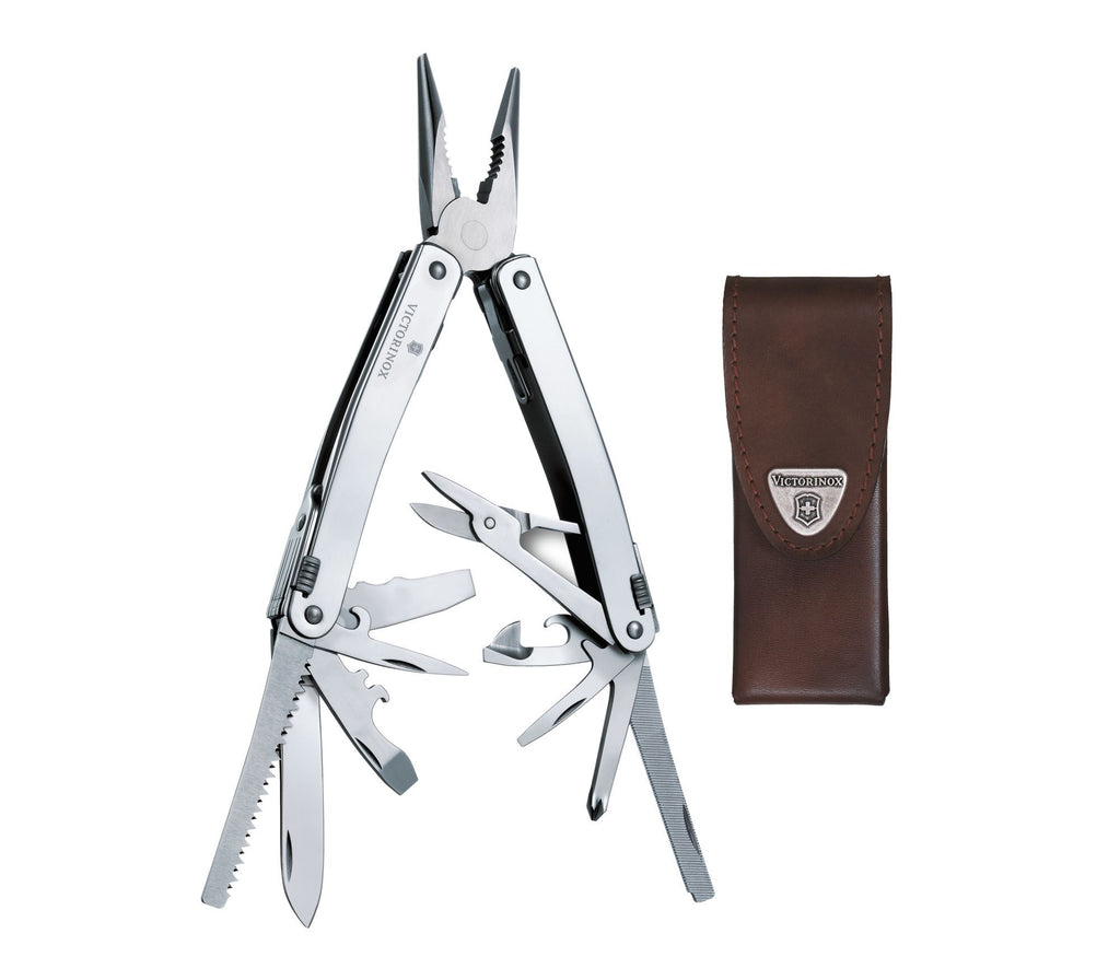 Swisstool Spirit X Multi-Tool with Leather Pouch