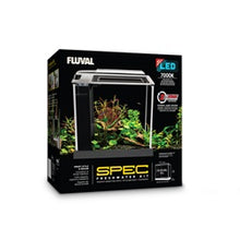 Load image into Gallery viewer, Fluval Spec (2.6 US gal) - Black - Desktop Glass Aquarium