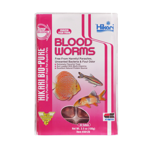 Hikari Frozen Bloodworms  - Cube - In Store Only