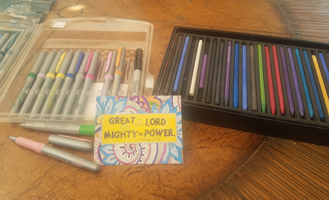 Inspirational Faith Coloring Cards
