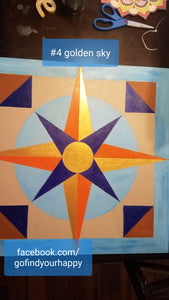 Golden Sky Barn Quilt