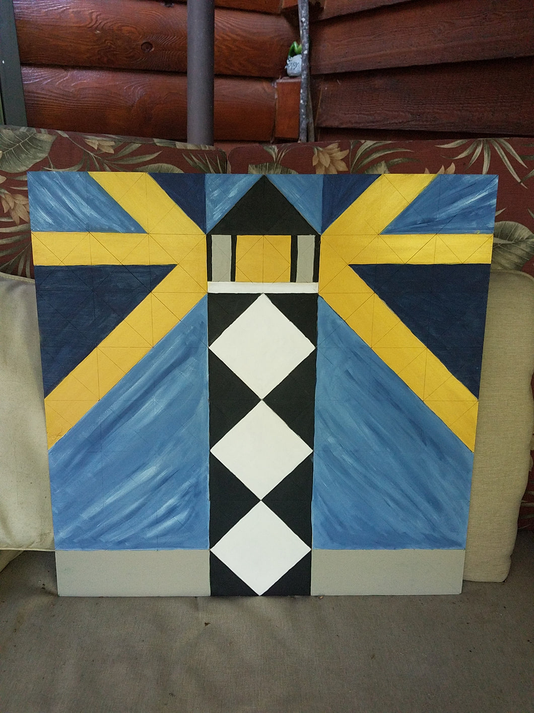 Let Your Light Shine Lighthouse Barn Quilt 24x24