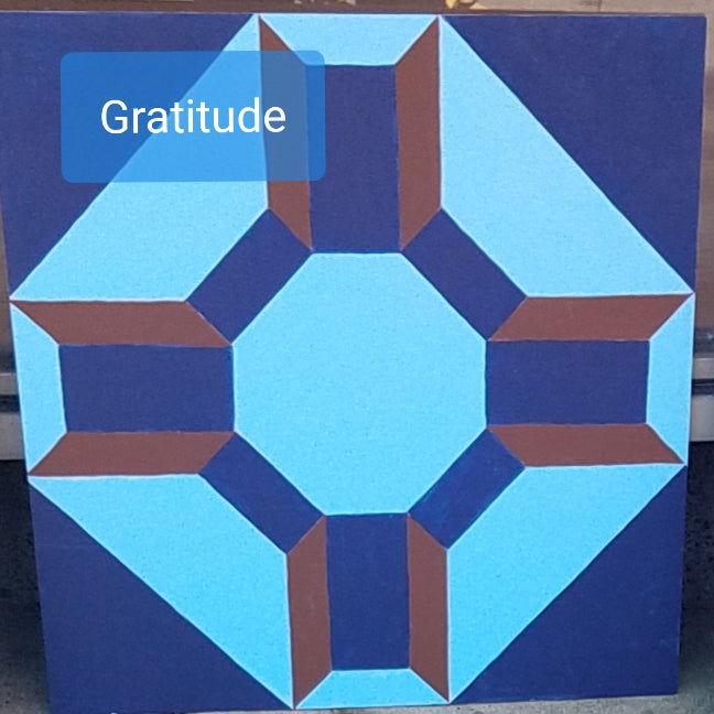 Gratitude Barn Quilt with Paint Kit