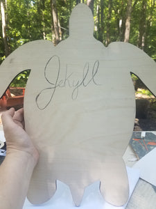 Jekyll Turtle DIY Paint Kit w/custom vinyl saying!
