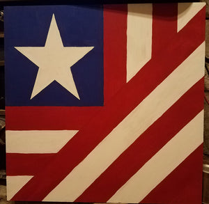 American Freedom Etched Wood DIY Barn Quilt