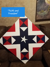 Load image into Gallery viewer, Faith and Freedom Flag Patriotic Etched DIY Barn Quilt