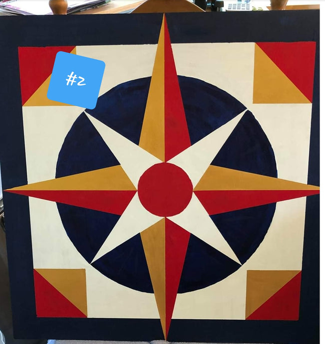 Hope and Prayer for America #4 Compass Barn Quilt