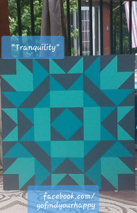 """Tranquility"" DIY Barn Quilt by Tricia Andreassen"