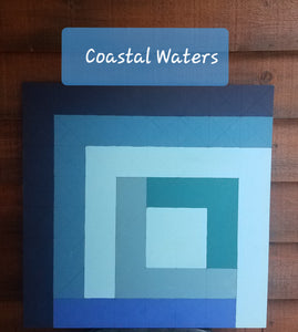 """Coastal Waters"" DIY Paint Barn Quilt by Artist Tricia Andreassen"