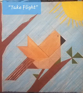 """Take Flight"" DIY Paint Barn Quilt by Artist Tricia Andreassen"