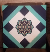 "Load image into Gallery viewer, ""Soulful Healing"" Mandala DIY Barn Quilt"