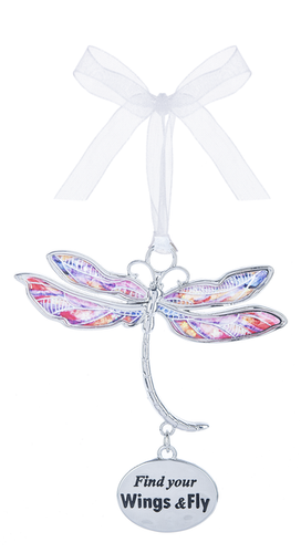 Find Your Wings & Fly Dragonfly Dreams Ornament