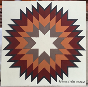 """Radiance"" outdoor or indoor Barn Quilt DIY Paint by Etched Lines"