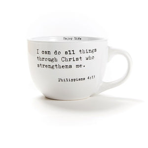 I can do all things through Christ who strengthens me Stoneware, 24oz Mug