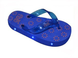Blue Light Up Flip Flops