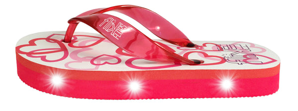 FLIK FLOPS Light Up Flip Flops for Girls-Hearts