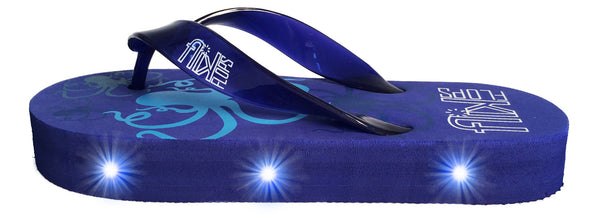 FLIK FLOPS Light Up Flip Flops for Boys-Octopus