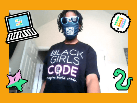 Black Girls CODE participant at home