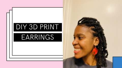 Showing off a 3D printed earring!