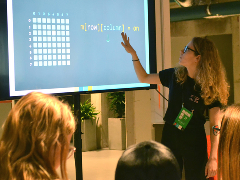 Teaching coding to students