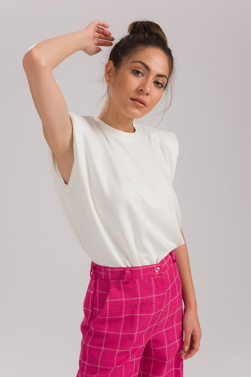 White Lucy Basic Blouse