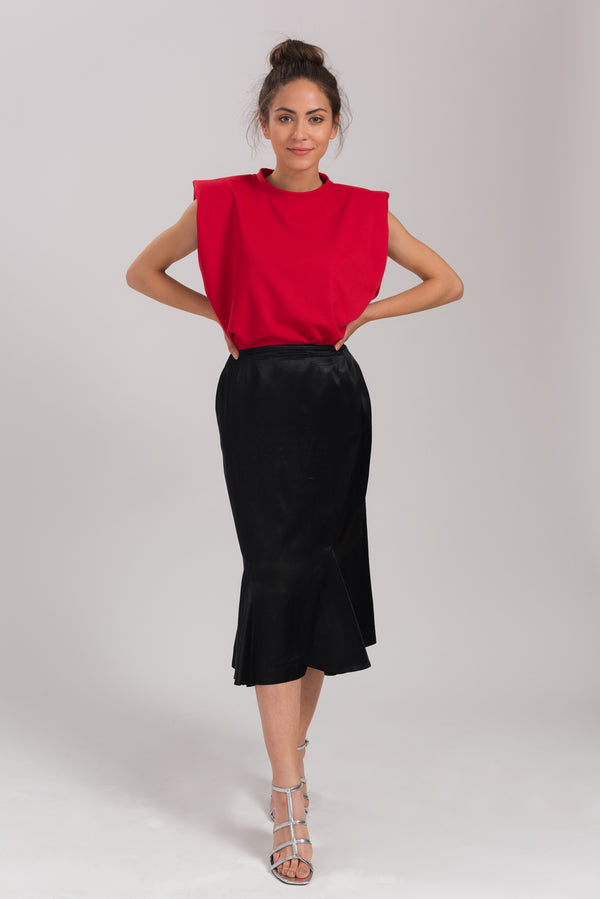 Red Lucy Basic Blouse