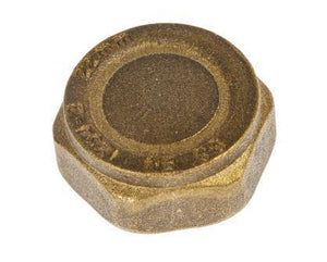 22mm Brass Fitting Cap (Threaded)