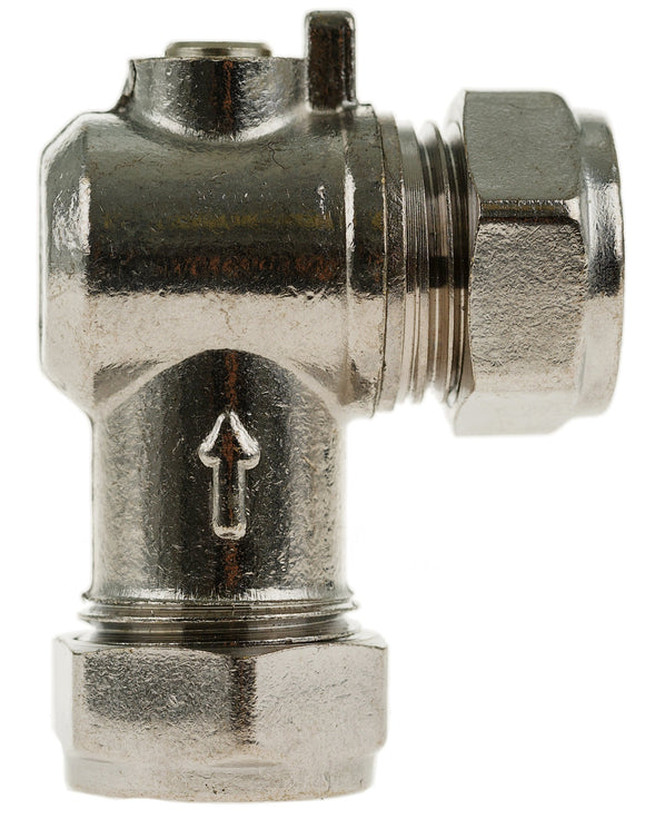 Angled Isolating Valve CP 15mm x 15mm