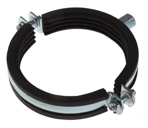 Rubber Lined Pipe Clips, M8/M10 Threaded