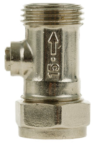 "15mm x 1/2"" MI Flat-faced Straight ISO valve"