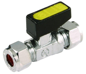 15mm Straight Mini Ball Valve (Water, Gas & Oil)