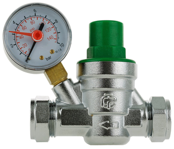 15+22mm Pressure Reducing Valve+Gauge