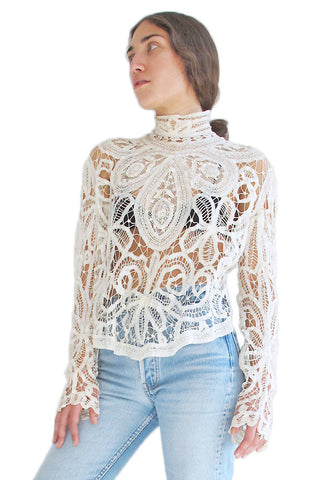Antique Victorian Tape Lace Blouse
